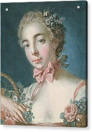 Head Of Flora Acrylic Print by Francois Boucher