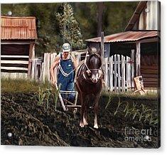 Pa Dee Plowing Acrylic Print