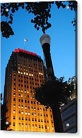 Pa Power Light And Allentown Symbol Acrylic Print by Jacqueline M Lewis