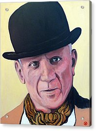Pablo Picasso Acrylic Print by Tom Roderick
