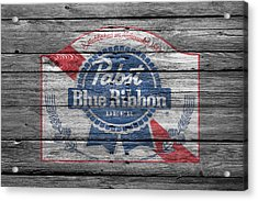 Pabst Blue Ribbon Beer Acrylic Print