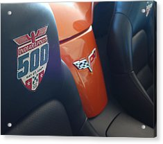Pace Ride - Indianapolis 500 Corvette Acrylic Print by Steven Milner