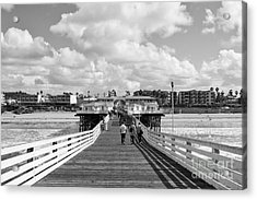 Pacific Beach From Crystal Pier Acrylic Print
