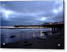 Pacific Beach Pier Acrylic Print by Carrie Warlaumont