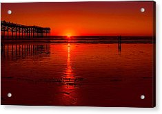 Pacific Beach Sunset Acrylic Print by Tammy Espino