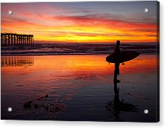 Pacific Beach Was On Fire Tonight Acrylic Print