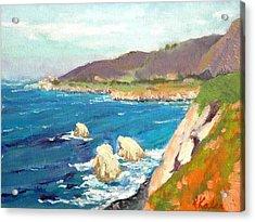 Pacific Coast Acrylic Print by Raymond Kaler