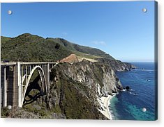 Pacific Coast Scenic Highway Bixby Bridge Acrylic Print