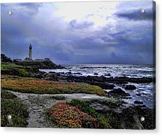 Acrylic Print featuring the photograph Pacific Lighthouse by Kathy Churchman