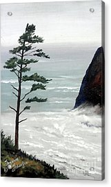 Pacific Northwest Soft Ocean Breezes Acrylic Print by Suzanne Schaefer