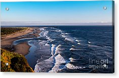 Pacific Ocean And The Columbia River Acrylic Print