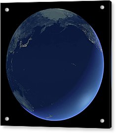 Pacific Ocean At Night Acrylic Print by Planetary Visions Ltd/science Photo Library