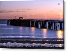 Pacific Ocean At The Pismo Beach Pier  Acrylic Print