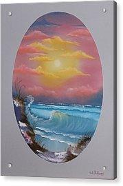 Pacific Ocean Sunset Acrylic Print