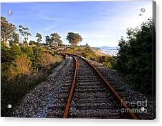 Pacific Rail Acrylic Print by Shannan Peters