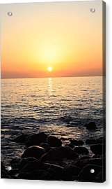 Pacific Sunrise Acrylic Print by Ashley Balkan
