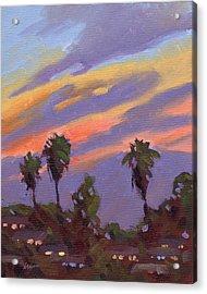 Pacific Sunset 1 Acrylic Print by Konnie Kim