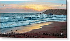 Pacific Sunset Acrylic Print by Paul Krapf