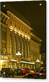 Pacific Theatres In San Diego At Night Acrylic Print by Ben and Raisa Gertsberg