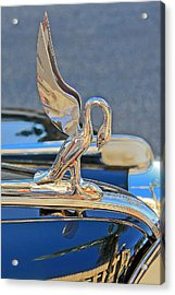 Packard Hood Ornament Acrylic Print by Ben and Raisa Gertsberg