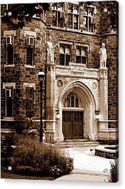 Packard Laboratory Sepia Acrylic Print by Jacqueline M Lewis