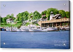Acrylic Print featuring the painting Packet Landing by Karol Wyckoff