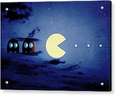 Pacman Night-scape Acrylic Print