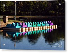 Acrylic Print featuring the digital art Paddle Boats by Kelvin Booker