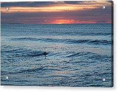 Ocean Sunrise Paddle Out At First Light Acrylic Print