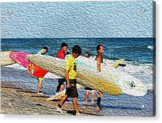 Paddle Out  Acrylic Print