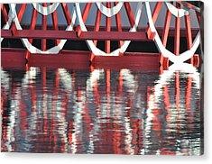 Paddle Wheel Acrylic Print by AnnaJo Vahle