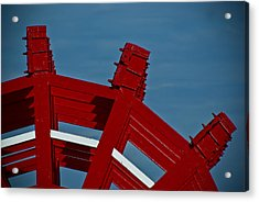 Acrylic Print featuring the photograph Paddle Wheel On The Mississippi River by Ray Devlin
