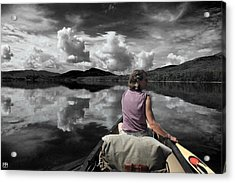 Paddling Attean Pond Acrylic Print