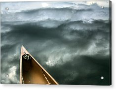 Paddling Before The Storm Acrylic Print