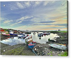 Paddy's Hole South Gare Teesside Acrylic Print