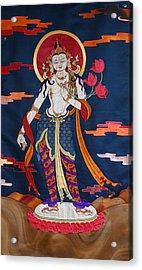 Padmapani Acrylic Print by Leslie Rinchen-Wongmo