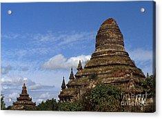 Pagan Burma Stupa Acrylic Print by Scott Shaw