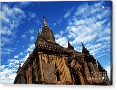 Pagan Burma Temple Acrylic Print by Scott Shaw