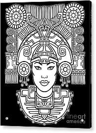 Pagan Goddess. Motives Of Art Native Acrylic Print