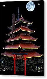 Pagoda Acrylic Print by DJ Florek