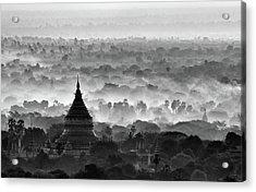Pagoda Acrylic Print by Hans-wolfgang Hawerkamp