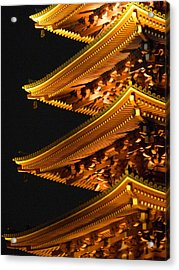 Acrylic Print featuring the photograph Pagoda by Julia Ivanovna Willhite