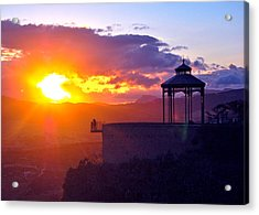 Acrylic Print featuring the photograph Pagoda Sunset by HweeYen Ong