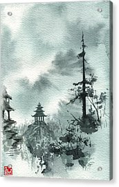 Pagoda Valley Acrylic Print by Sean Seal