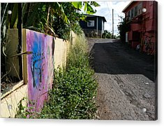Paia Alleyway Acrylic Print by Matt Radcliffe