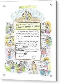 'paid Advertisement' Acrylic Print by Roz Chast