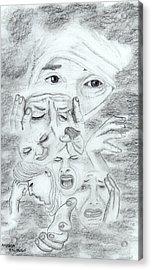 Pain Acrylic Print
