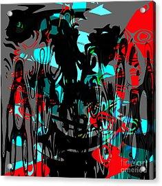 Pain Acrylic Print by Ashantaey Sunny-Fay