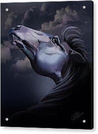 Pain Inside Me Acrylic Print by Kate Black