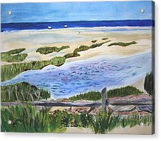 Paines Creeek Is A Wonderful Beach On Cape Cod Bay In The Town Of Brewster Ma. Acrylic Print by Donna Walsh